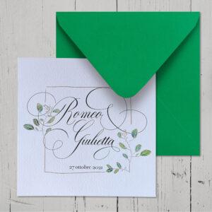 Partecipazioni matrimonio fiori