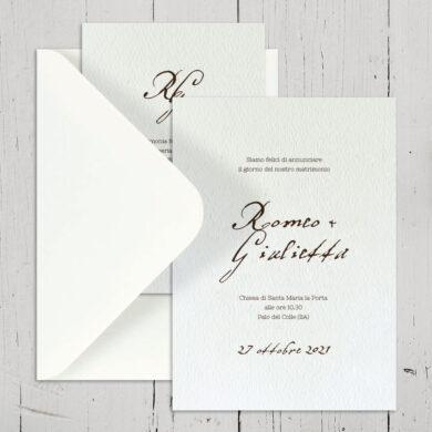 Partecipazione matrimonio Manoscritto